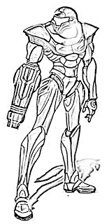 Metroid Coloring Pages Metroid