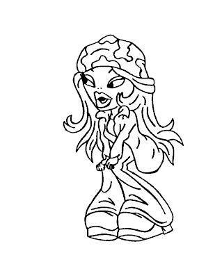 Bratz Coloring Pages Yasmin. Bratz Coloring Pages: Free