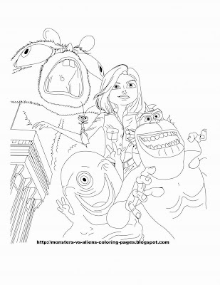 vs aliens coloring page