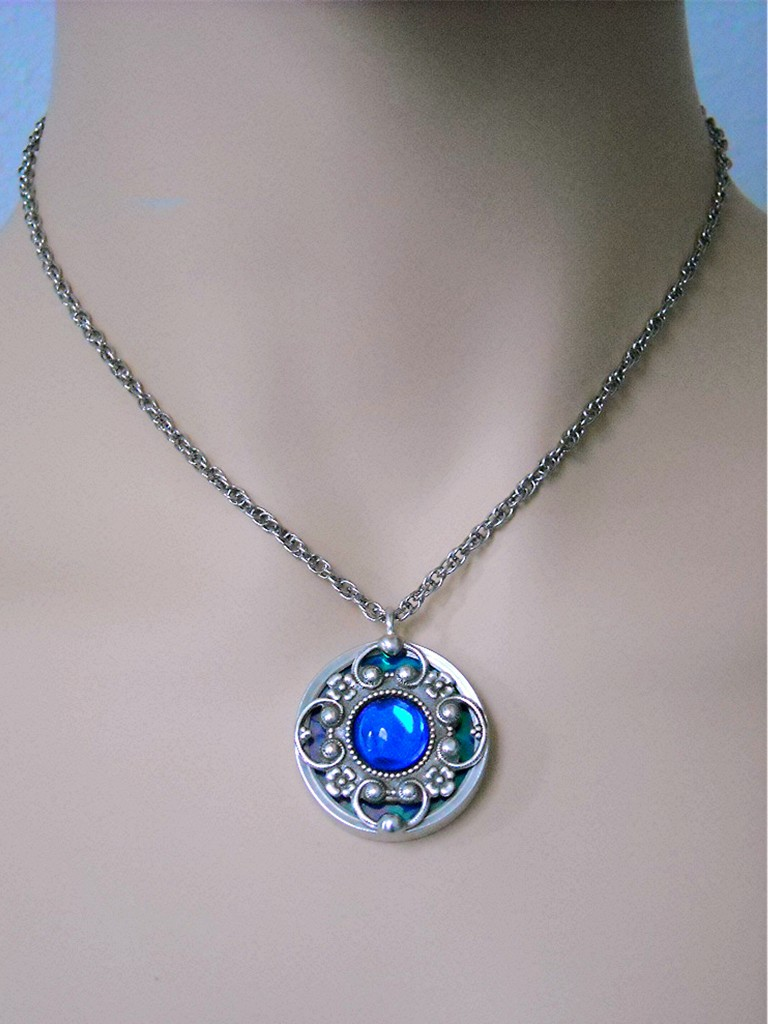 Jasglassart original designs in stained glass stained glass stained glass medallion pendant necklace aloadofball Gallery