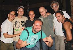 com a galera do humor sem censura Nizo Neto, Rey Biannchi, Sergio Stern, Bruno Buaiz e Cia Ltda