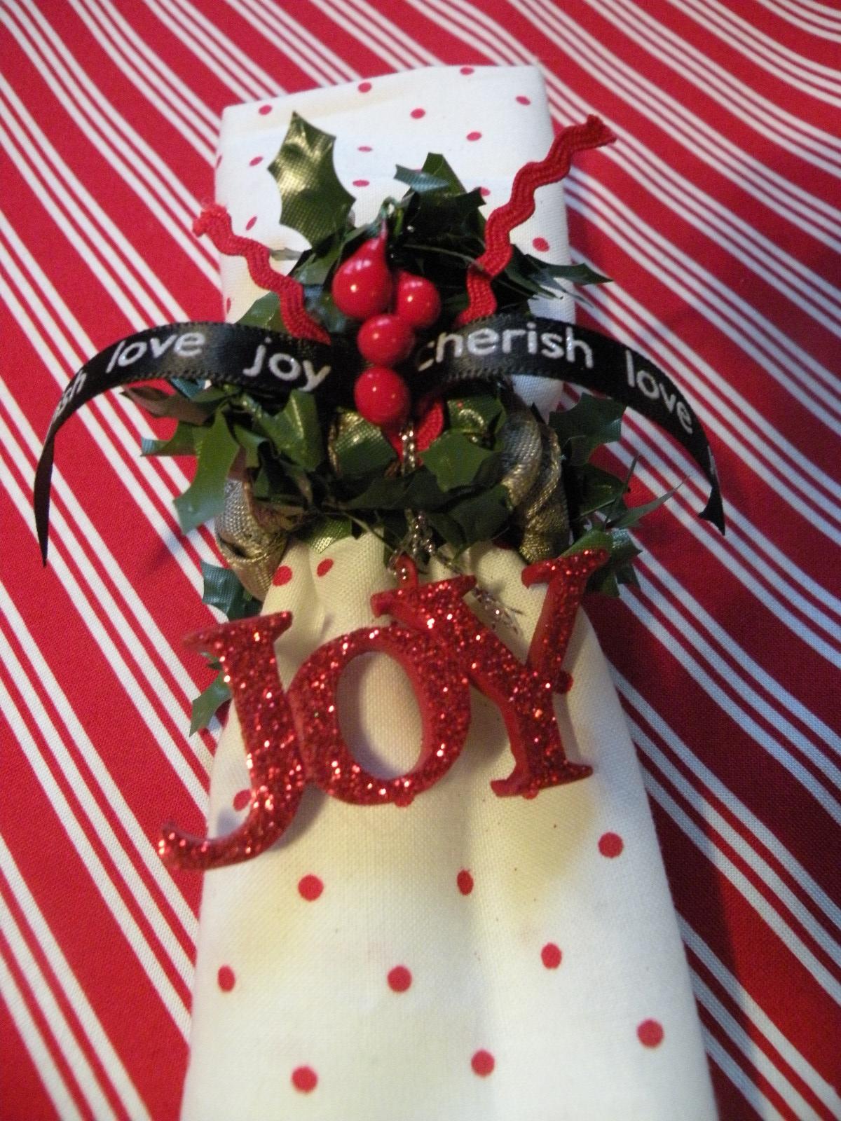 Christmas gift ideas holiday napkin rings