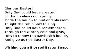Easter Verses Poems Quotes