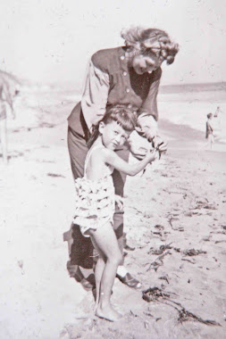 Mom and me in Long Beach late 40's