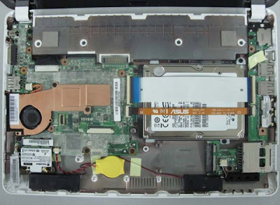 Asus Eee PC 1015P Dissected Photo