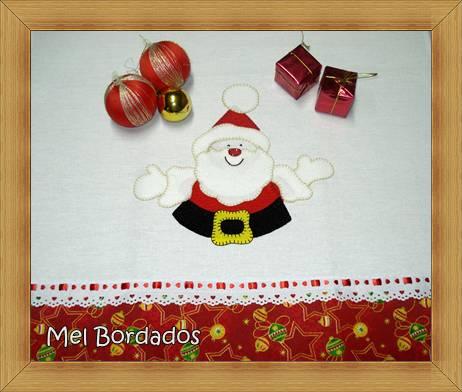 Panos de Prato Motivos de Natal em Patchcolagem