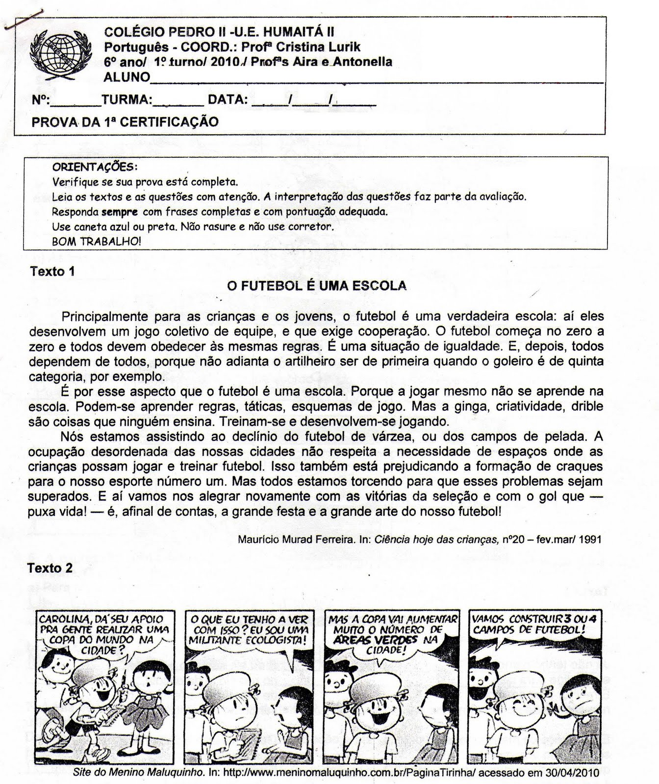 Ensino Fundamental 6   Ano