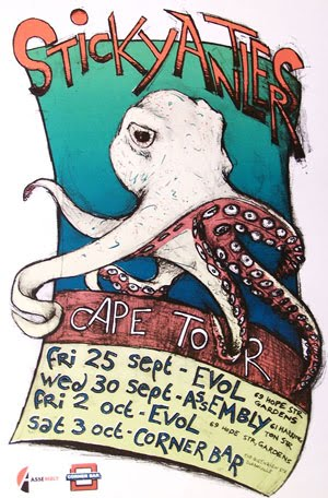 Sticky Antlers Cape Tour poster by Righard Kapp