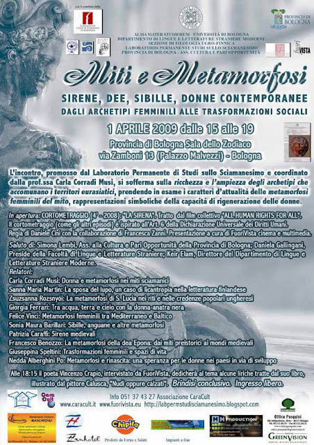 """""""Miti e metamorfosi - Sirene, dee, sibille, donne contemporanee"""
