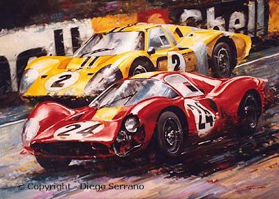 Ferrari versus Ford em Le Mans 67