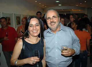 Lú Albuquerque e Gilberto Moura
