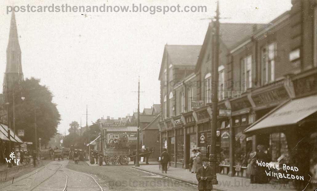 Postcards Then And Now Wimbledon Worple Road C1910