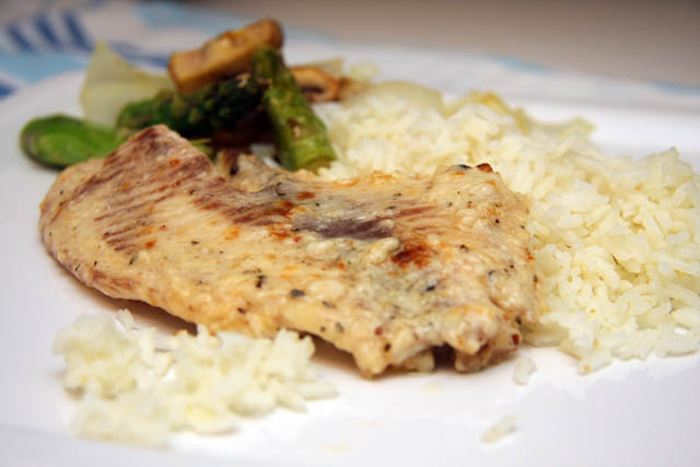 two little chefs: Broiled Tilapia Parmesan