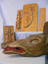 View of different carvings by Kasper