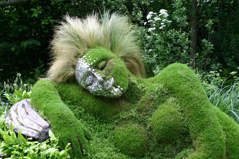Green gape green garden for Grass garden ideas