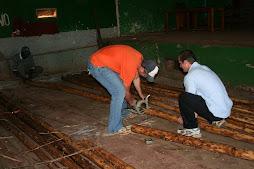 Cutting Eucalyptus for the Scaffolding