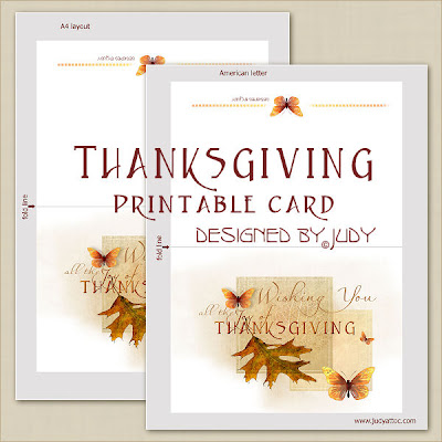 Thanksgiving card layouts - click to enlarge