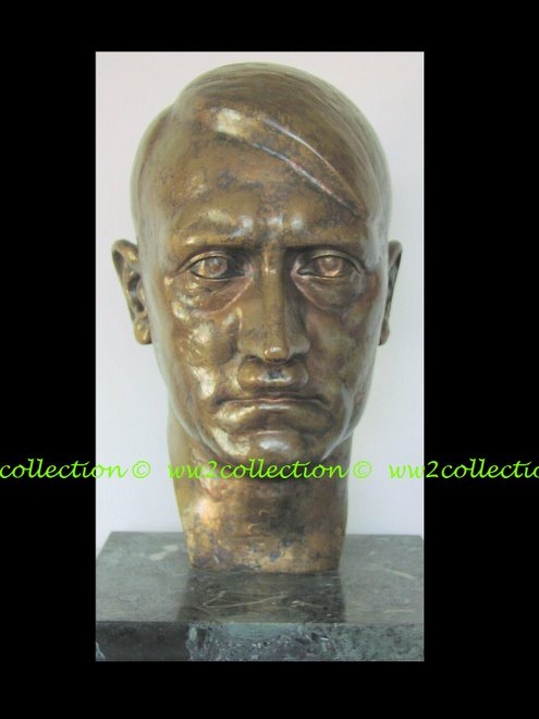 Adolf Hitler - Der Führer - on a marble base