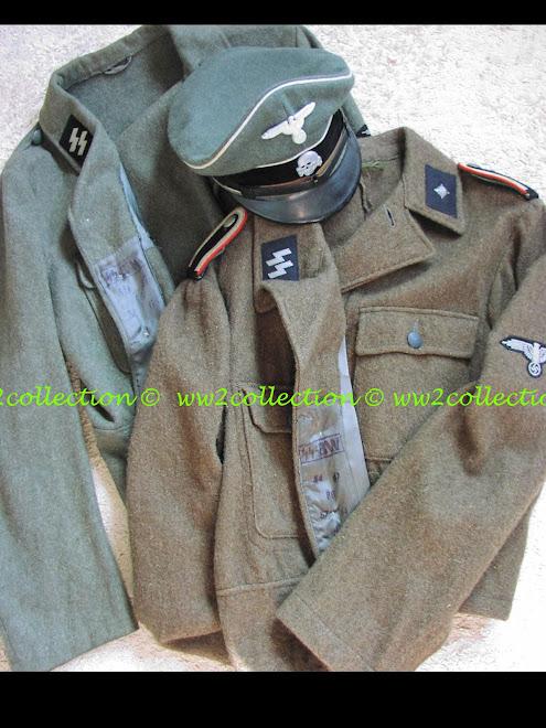 Tunics Waffen-SS M44 Feldbluse and SS visored cap