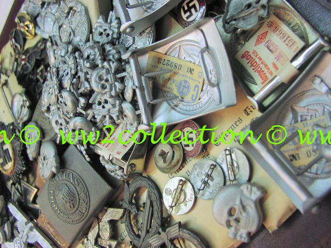 Authentic WW2 German Badges, Beltbuckles with RZM-Etikett