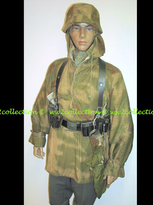 Tarnhemd German Army WW2 w. Helmetcover marsh pattern camo