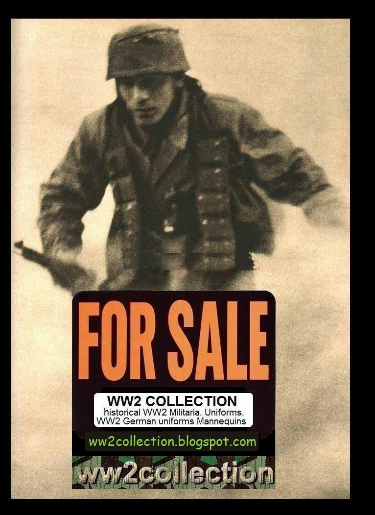 WW2 for Sale. WW2 German Military Uniforms Collection for details go to ww2collection.blogspot.com