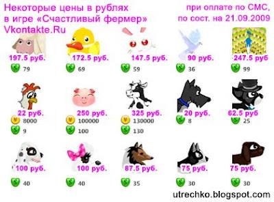 Монеты Счастливого фермера VKontakte.Ru