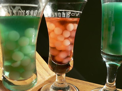 ... in your drinks, but these Creepy Bubble Drinks could be fun to make