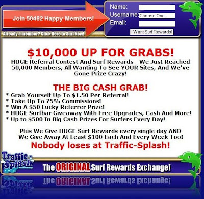 Traffic Splash Exchange Reaches 50,000 members and gives away 10,000 dollars in surf rewards!