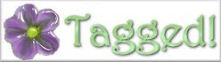 Purple Flower Tagged blog meme logo