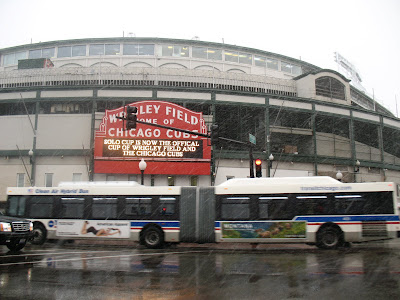 Wrigley Field Snow