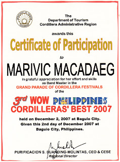 musical notes seminars attended certificates