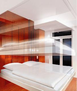 væghængt seng