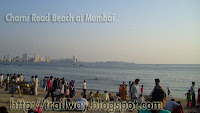 Girgaon Chowpatty (Girgaon or Charni Road Beach) of Mumbai in India
