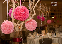 Wedding Centerpieces with Branches and Flowers