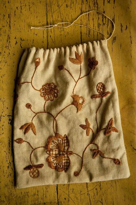 Crewel Embroidered Bag