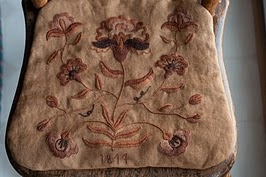 Crewel Embroidered Chair Pad