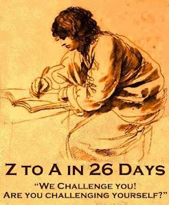 Z -A challenge in 26 days
