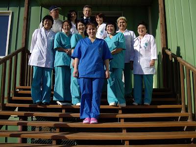 коллектив работников больницы Канчалана