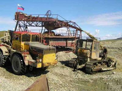 фотографии прииска Восточный 2008-промывочный прибор для промывки золота