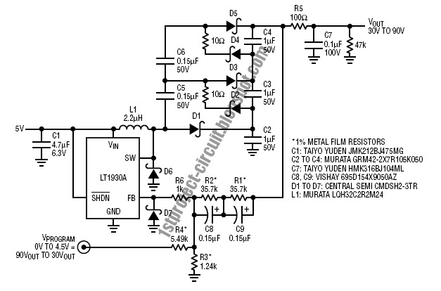 project circuit design  apd bias supply circuit
