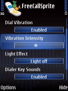 FreeCallSprite vibration