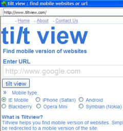 tilt view mobile web