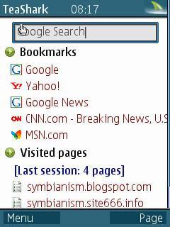 TeaShark Symbian web browser