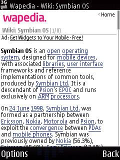 Wapedia, Wikipedia for mobile phone web browsers