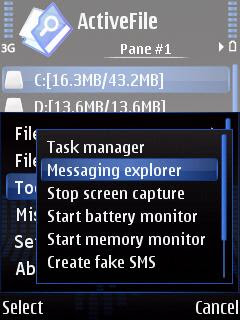 ActiveFile Symbian file browser