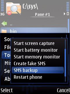 ActiveFile Symbian file manager & SMS backup restore tool