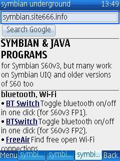 UCWEB Symbian S60 mobile phone web browser, eBuddy instant messenger, Ovi Contacts instant messaging