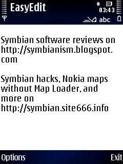 mobile phone dictionary, EasyEdit text editor Symbian S60 Nokia