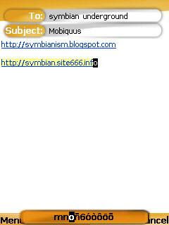 Mobiquus push email for Symbian mobile phones